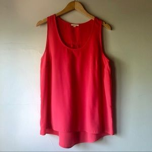 2/$15 Pleione Pink Pleated Back Tank Size Large
